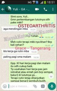 osteoarthritis sembuh dengan Minyak Kutus Kutus