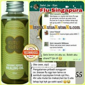 Flu Singapura Sembuh Berkat Minyak Kutus Kutus