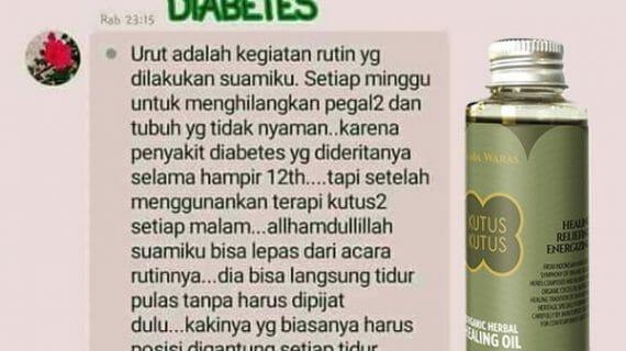 Testimoni Minyak Kutus Kutus Dari Penderita Jantung dan Diabetes