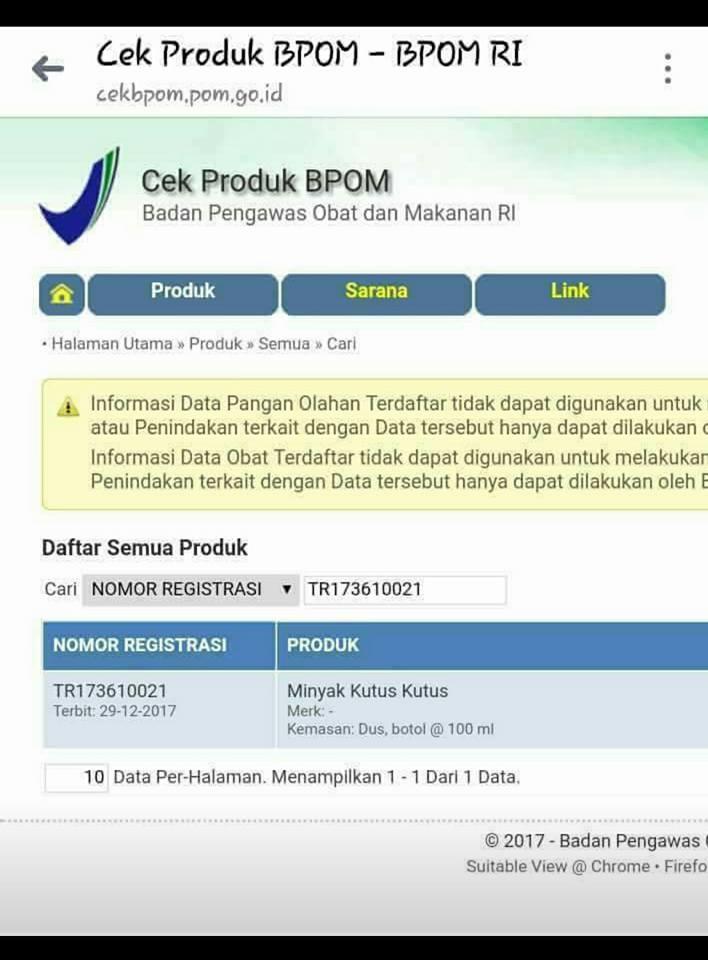 Ijin BPOM - MinyakKutusKutusKuDotCom
