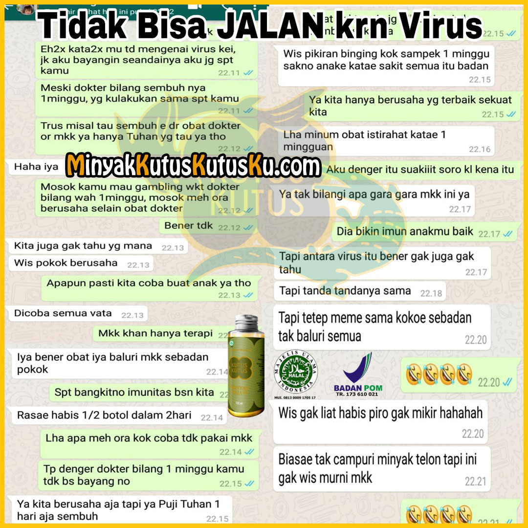 Tidak Bisa Jalan Karena Virus Balur Minyak Kutus Kutus
